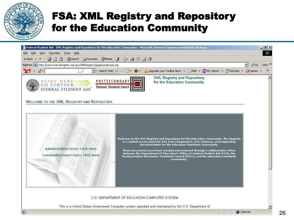 FSA: XML Registry and Repository