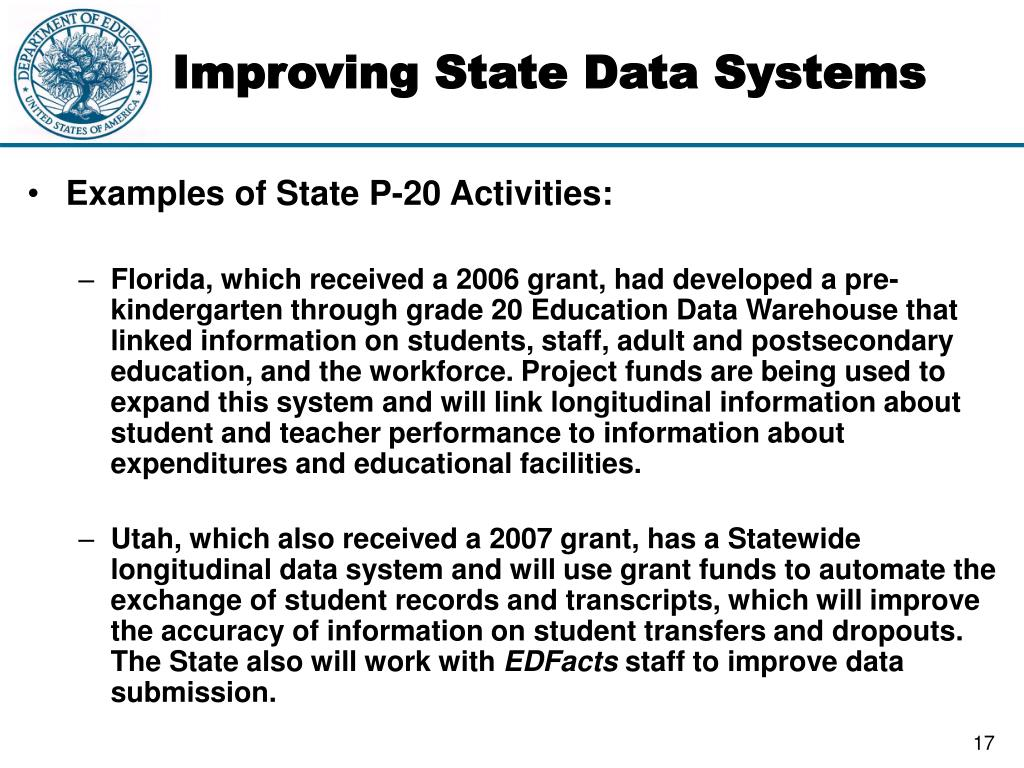 Improving State Data Systems