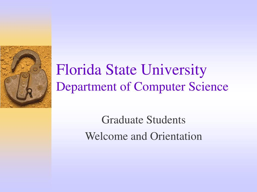 florida state university department of computer science l.