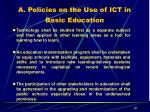 a policies on the use of ict in basic education