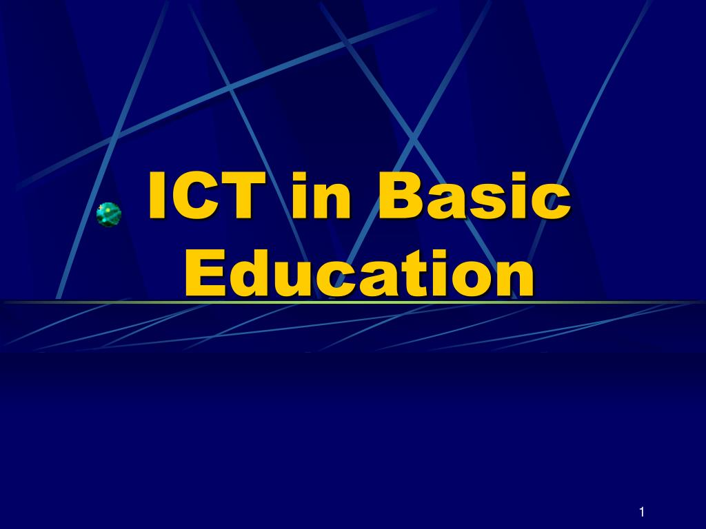 ict in basic education l.