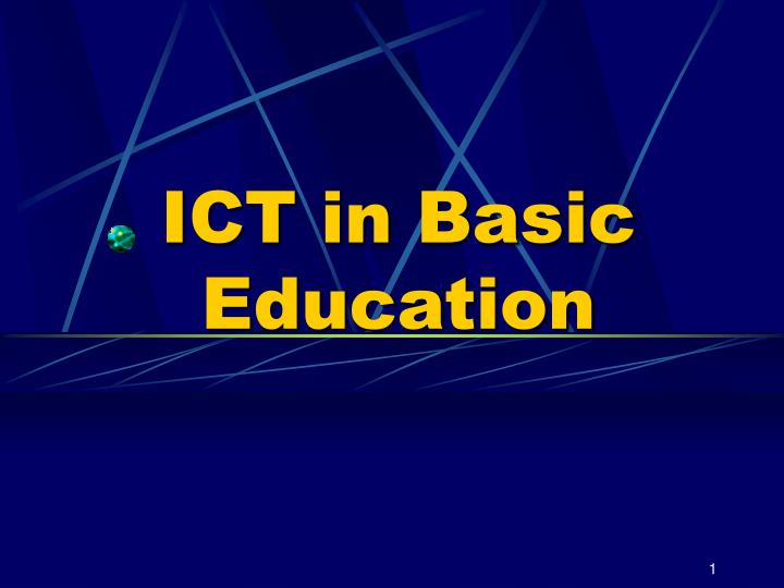 ict in basic education n.