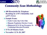 community scan methodology