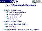 past educational attendance