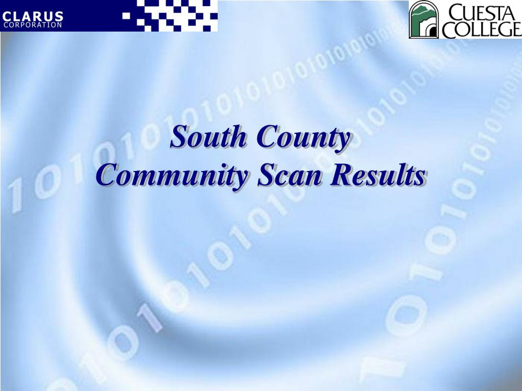 south county community scan results l.