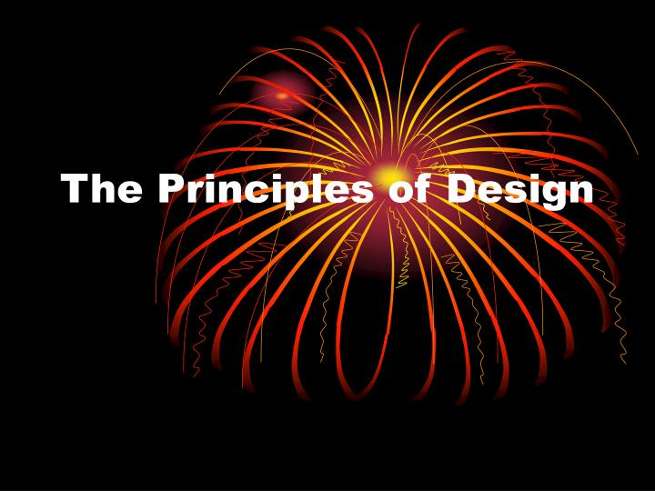 the principles of design n.