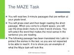 the maze task