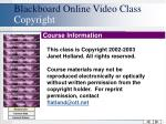 blackboard online video class copyright
