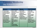 committee membership one school example