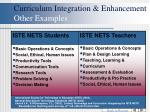 curriculum integration enhancement other examples48