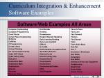 curriculum integration enhancement software examples41