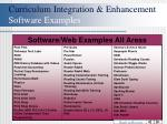 curriculum integration enhancement software examples44