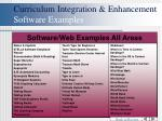 curriculum integration enhancement software examples45