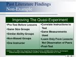 past literature findings non example