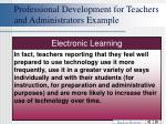 professional development for teachers and administrators example