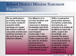 school district mission statement examples