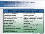 technology needs assessments evaluation examples20