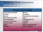 technology needs assessments infrastructure examples