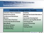 technology needs assessments instructor examples