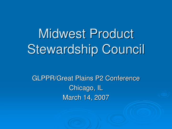 midwest product stewardship council n.