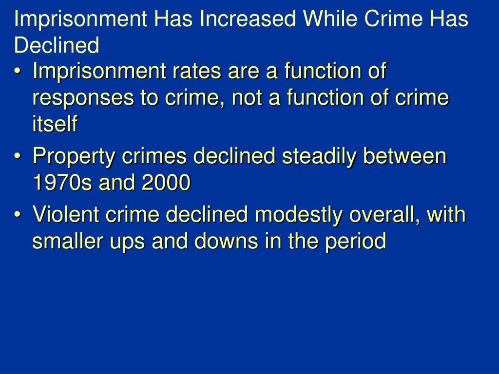 Imprisonment Has Increased While Crime Has Declined
