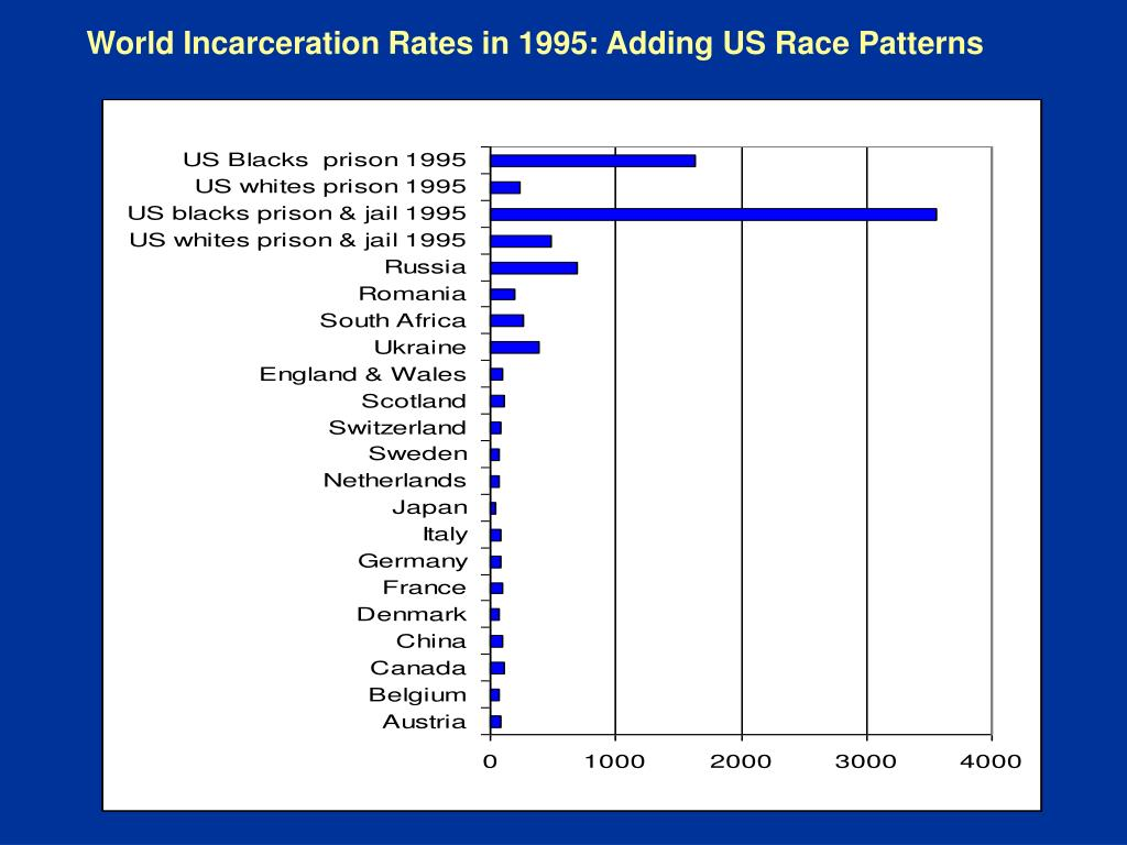 World Incarceration Rates in 1995: Adding US Race Patterns