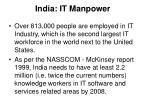 india it manpower