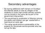 secondary advantages