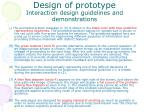 design of prototype interaction design guidelines and demonstrations24