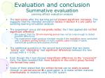 evaluation and conclusion summative evaluation learning effects evaluation analysis
