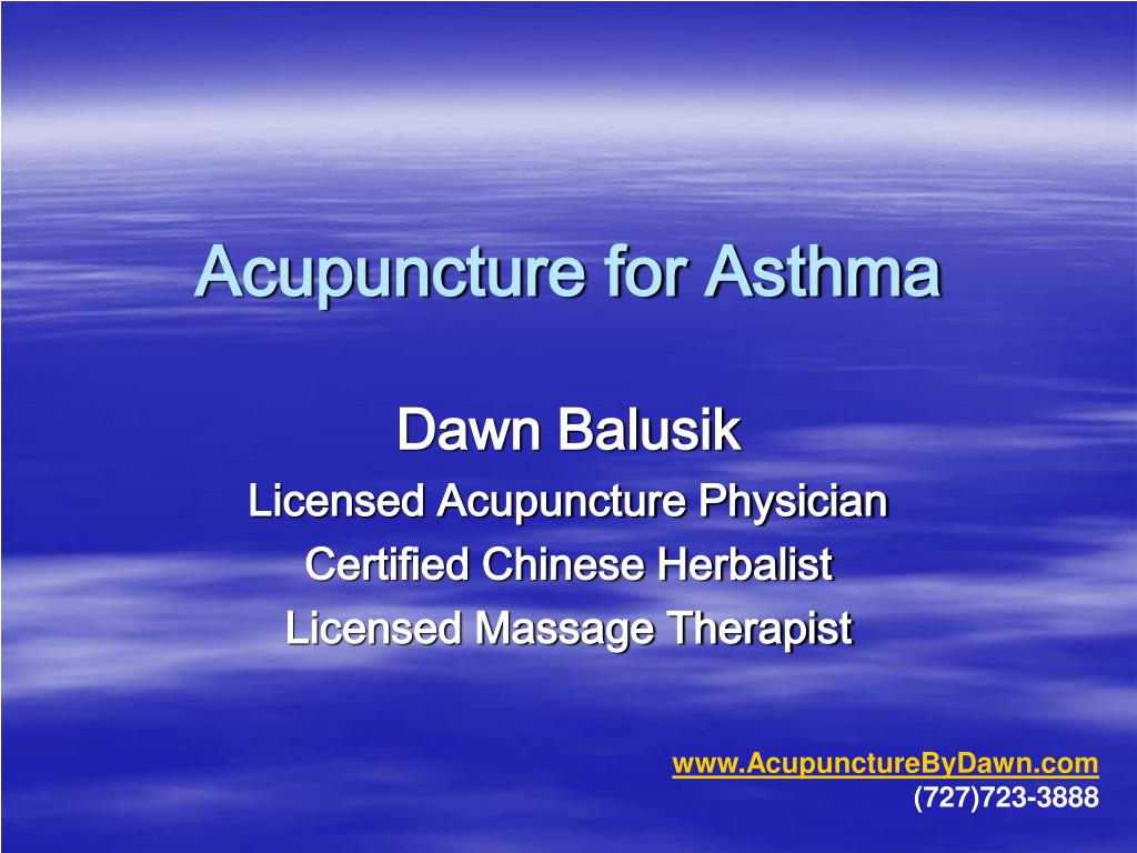 acupuncture for asthma l.