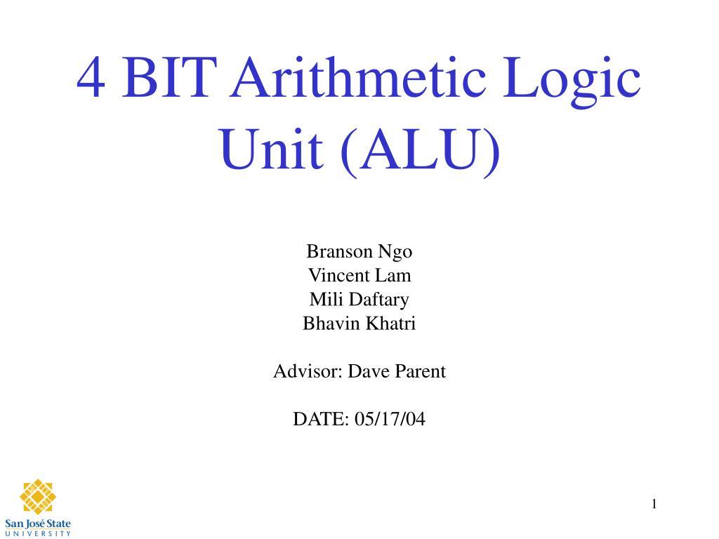 4 bit arithmetic logic unit alu l.