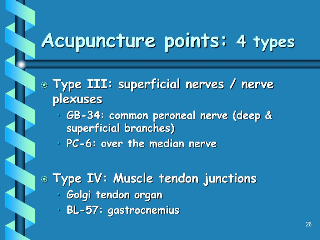Acupuncture points: