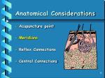 anatomical considerations28