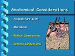 anatomical considerations35