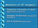 mediators of ap analgesia