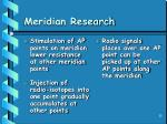 meridian research