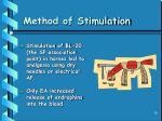 method of stimulation
