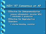 nih 97 consensus on ap10