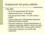 acupuncture for gout y arthritis