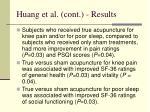 huang et al cont results