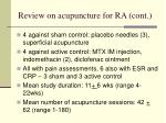 review on acupuncture for ra cont