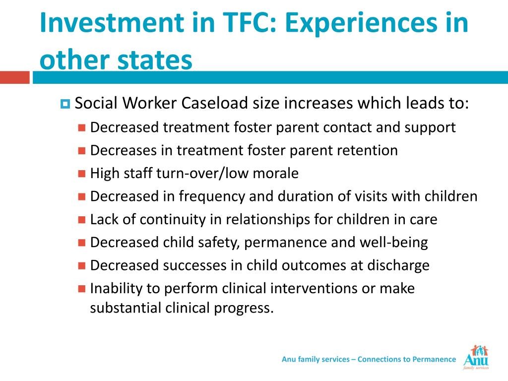 Investment in TFC: Experiences in other states
