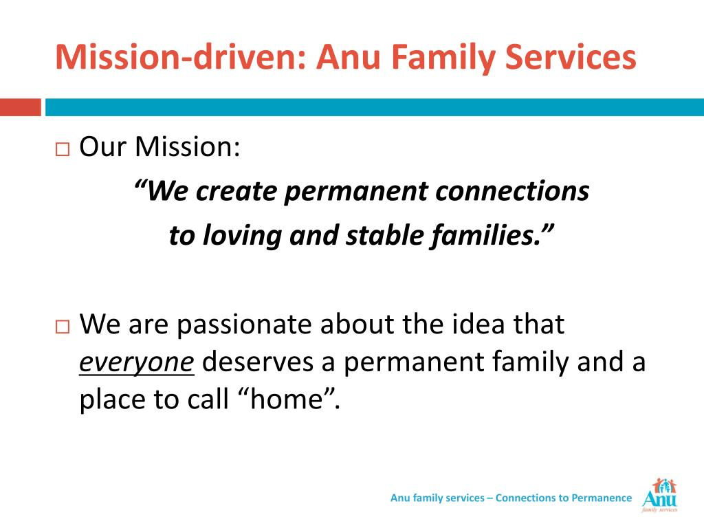 Mission-driven: Anu Family Services
