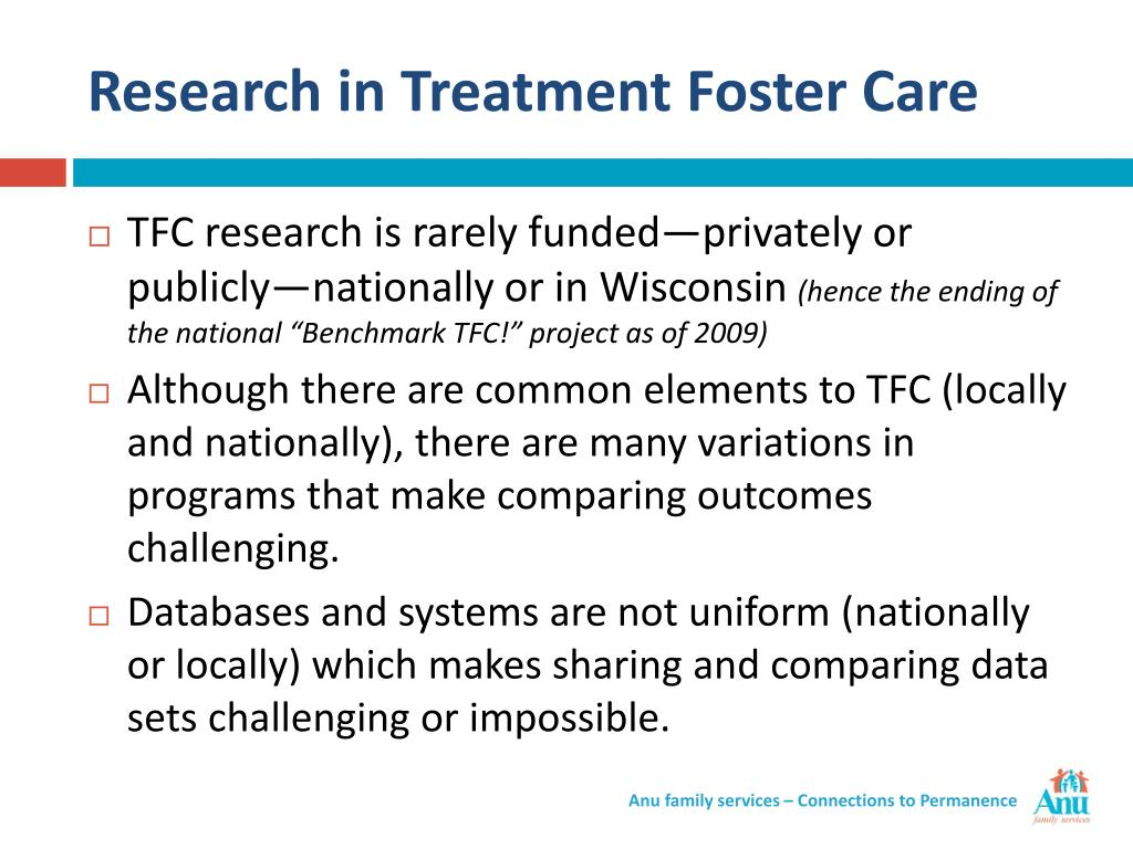 Research in Treatment Foster Care