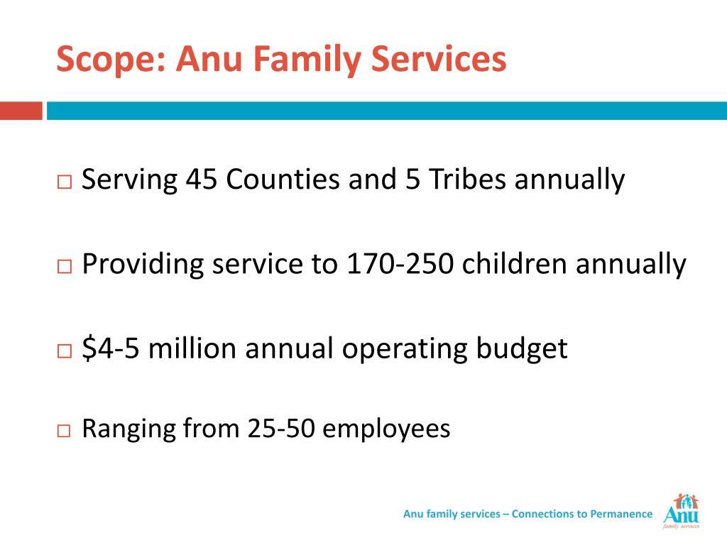 Scope: Anu Family Services