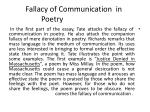 fallacy of communication in poetry