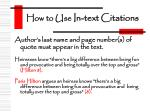 how to use in text citations