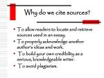 why do we cite sources