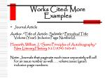 works cited more examples